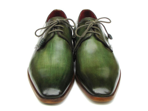 Image of Paul Parkman Men's Green  Derby Shoes  (ID#059-GREEN)
