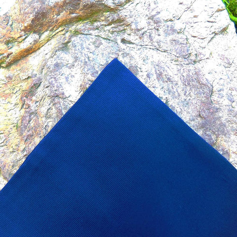 Image of Solid Color Pocket Square - Navy, Woven Silk