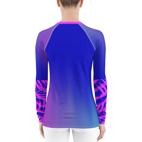 Image of Women's Speckled Palm Sea Skinz Performance Rash Guard UPF 40+