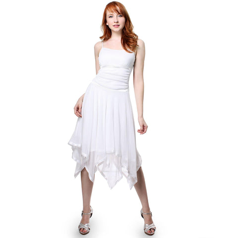 Evanese Womens Romantic Polyester Sheer A Line Cocktail Dress with Satin Trim
