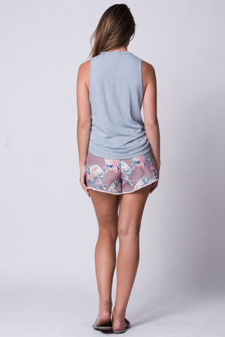 Madison Floral High Waist Short