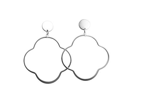 Image of Elena Silver Earrings