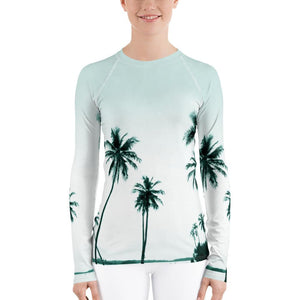 Women's Palm Tree Performance Rash Guard UPF 40+