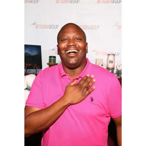 As Seen On TITUSS BURGESS Silver Volcano Crystal Button Ring