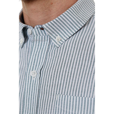Image of Larry Green Vertical Striped Shirt