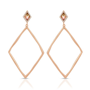 Indigo Rose Gold Earrings