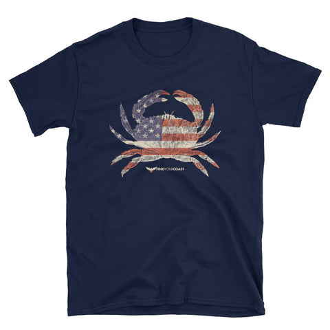 Men's American Crab Find Your Coast Cotton Tee Shirt