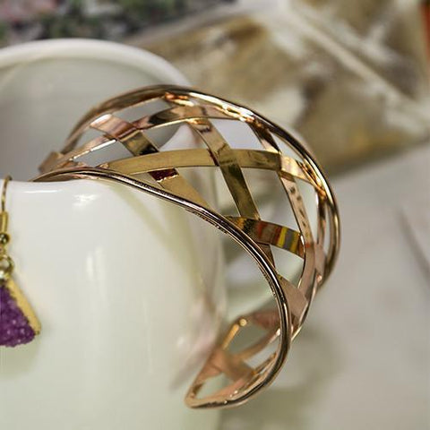 Image of Cuffed  Bracelet Gold