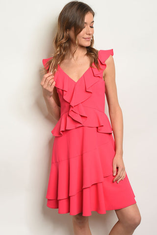 Womens Fuchsia Dress