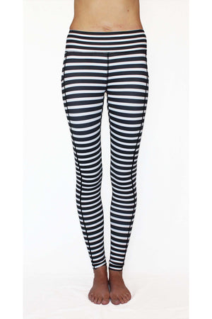 Black and White Stripe - Pocket Pant