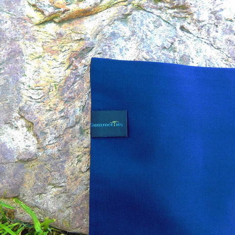 Solid Color Pocket Square - Navy, Woven Silk