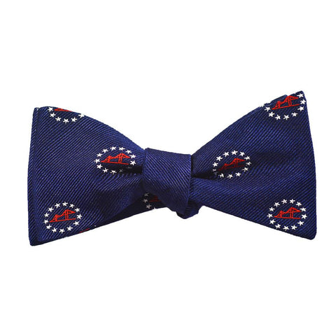 Newport Bridge 4th of July Bow Tie - Woven Silk