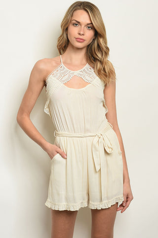 Image of Cream Romper