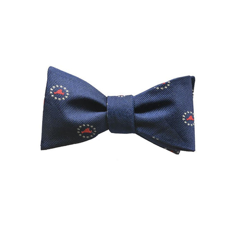 Image of Martha's Vineyard 4th of July Bow Tie - Woven Silk