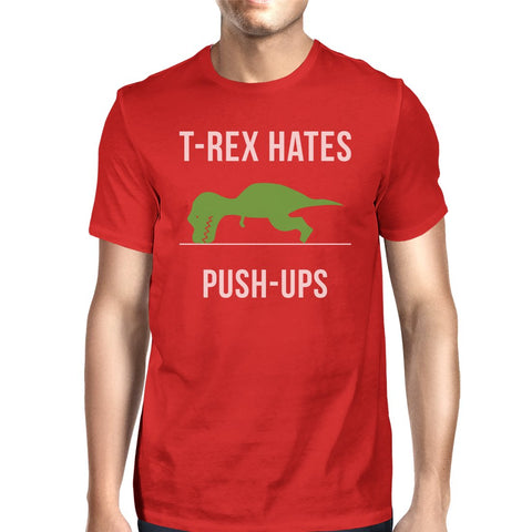 Image of T-Rex Push Ups Mens Funny Workout Shirts Lightweight Cotton T-Shirt