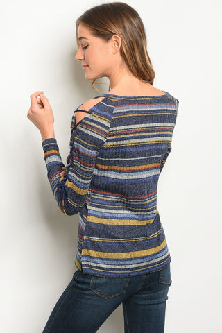 Image of Womens Multi Stripes Top