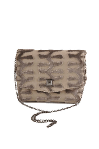 Image of Totem Taupe square clutch