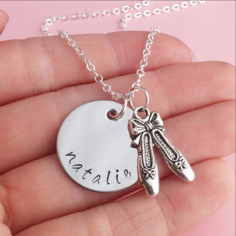Personalized Ballerina Necklace