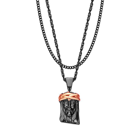 Image of Mister  2 Tone Jesus Piece Necklace