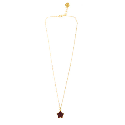 Ruby Star Necklace