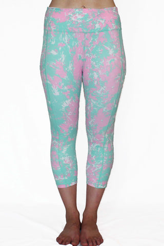 Image of Mint and Pink Marble - Pocket Capri