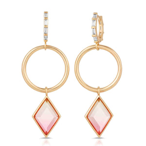 Trinity Gold Blush Earrings