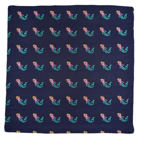 Mermaid Pocket Square - Navy