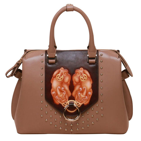 Image of PX (PiXiu) Small Brown Satchel