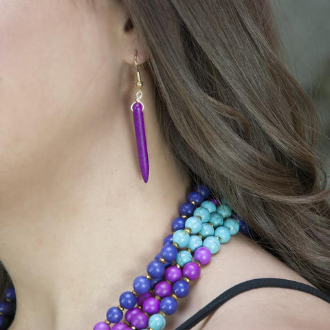 Image of Pin-Down Earrings -Plum