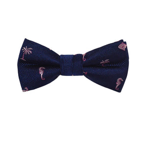 Multi Creature Bow Tie - Navy, Woven Silk, Pre-Tied for Kids