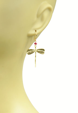 Image of Dragonfly Ruby Earrings