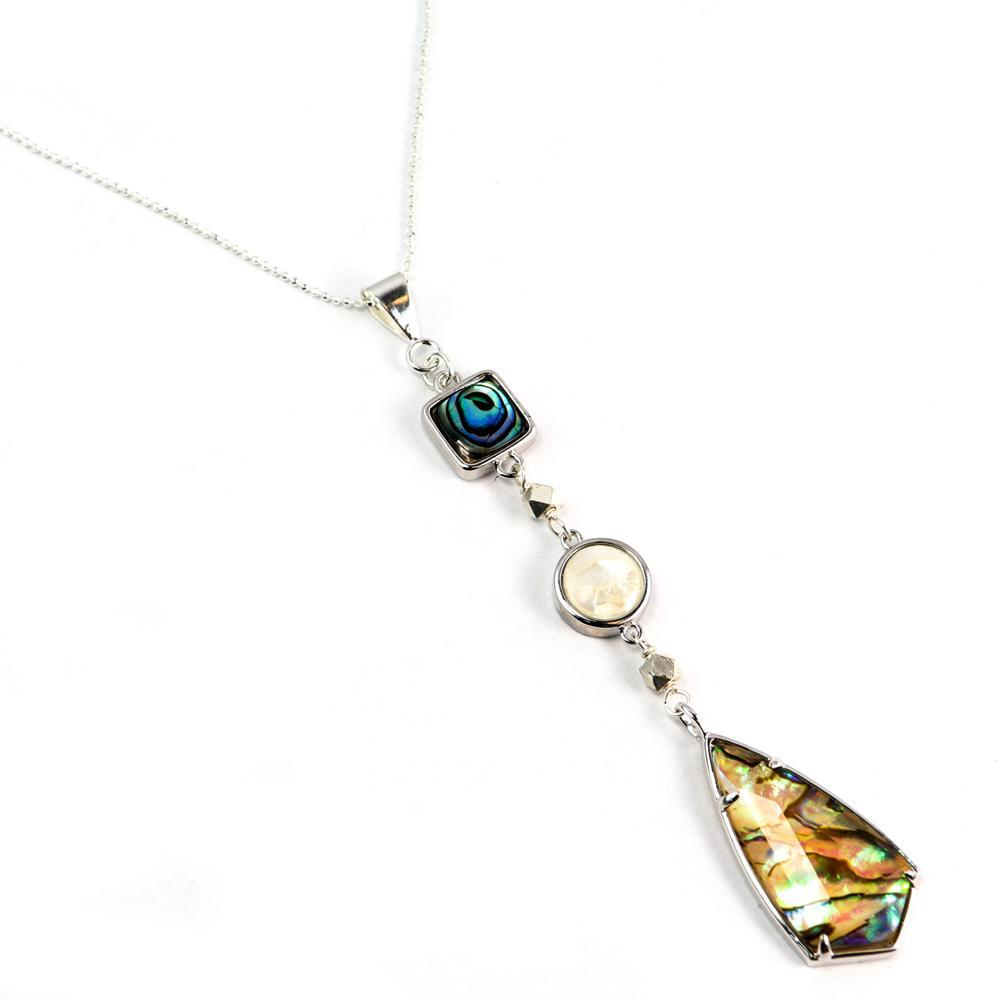 Courtney Necklace in Abalone-Silver