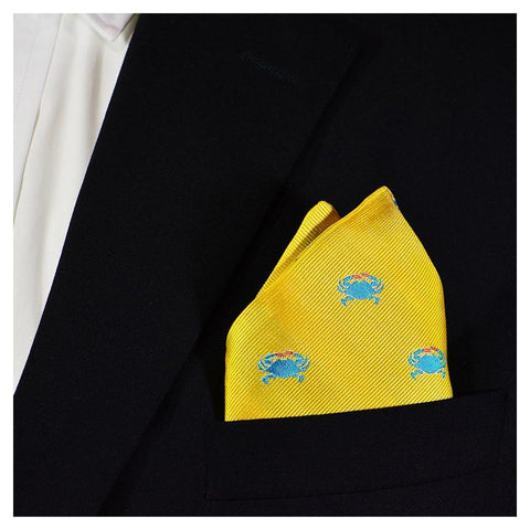 Image of Crab Pocket Square