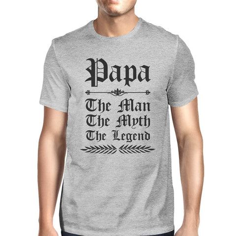 Image of Vintage Gothic Papa Mens Popular Fathers Day Tee Shirt Best Gift