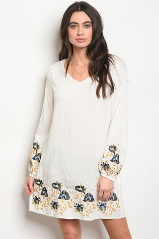 Image of Womens Ivory Dress