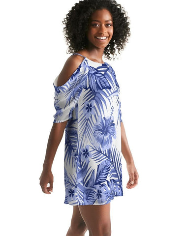 Women's Pacific Supply Open Shoulder A-Line Dress
