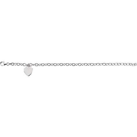 Image of Rolo Bracelet with Charm