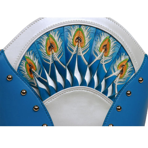 Image of Feather Blue Shoulder Bag