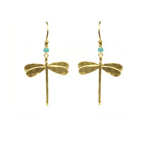 Dragonfly Amazonite Earrings