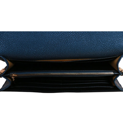 Image of Fish Blue Crossbody Clutch