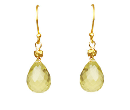 Lemon Citrine Drop Earrings