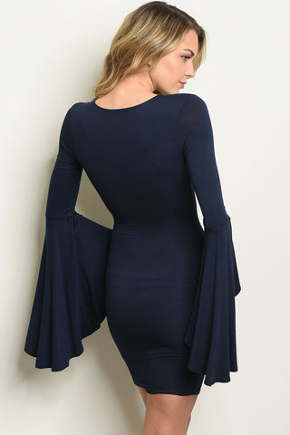 Image of Navy Dress