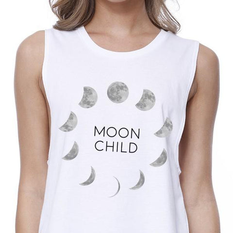 Image of Moon Child Womens White Crop Top