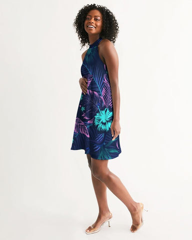 Women's Floral Veronica Casual Halter Dress