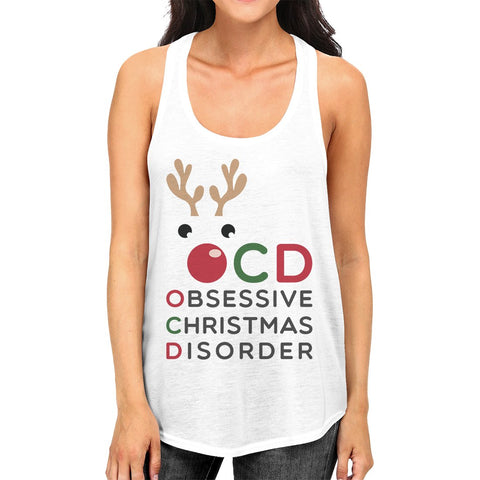 Rudolph OCD Womens Fashion Cute Christmas Gift Tank Top For Workout