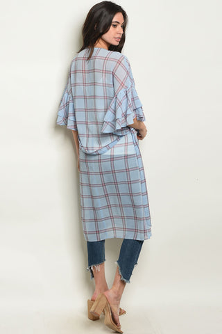 Womens Checkers Cardigan