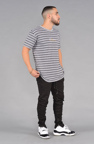 S&D LA Vintage Striped Tee (Navy & White)