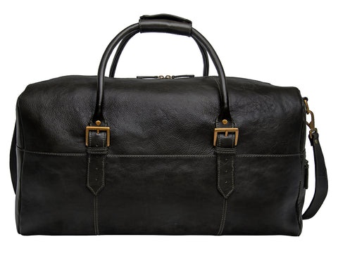 Image of Hidesign Charles Leather Cabin Travel Duffle Weekend Bag