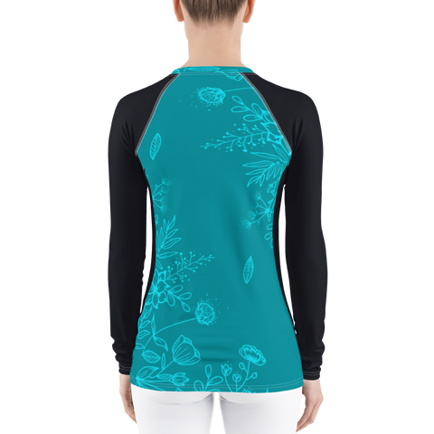 Image of Women's Aqua Season Long Sleeve All Weather UPF 40 Rash Guard