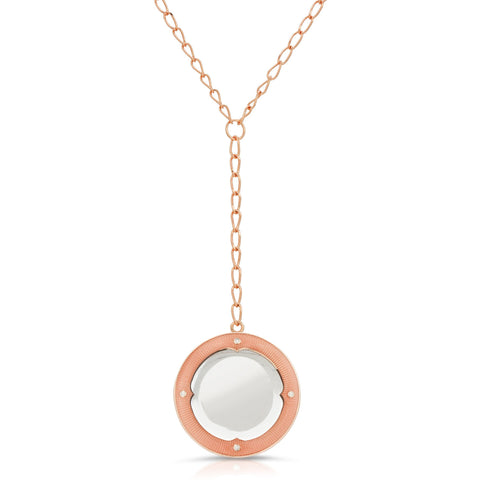 Calista Rose Gold - Magnifier Pendant Necklace
